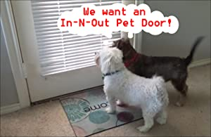The In-n-out Pet Door for Dogs converts French, Glass and Solid Exterior  People Doors into pet/People Doors, Saves Hundreds of Dollars, is Easy to