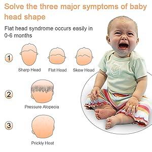 Amazon.com: Almohada para la cabeza del bebé para la ...