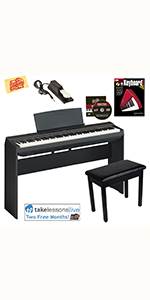 Yamaha P-125 Digital Piano with Furniture Stand and Bench ...