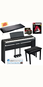 ... Yamaha P-125 Digital Piano with Furniture Stand, Bench and LP-1 Pedal ...