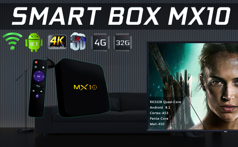 smart tv box tv box android 8.1 4gb ram 64gb tv boxes for moving tv box