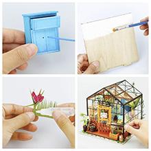 3D Wooden Miniature House Building Kit