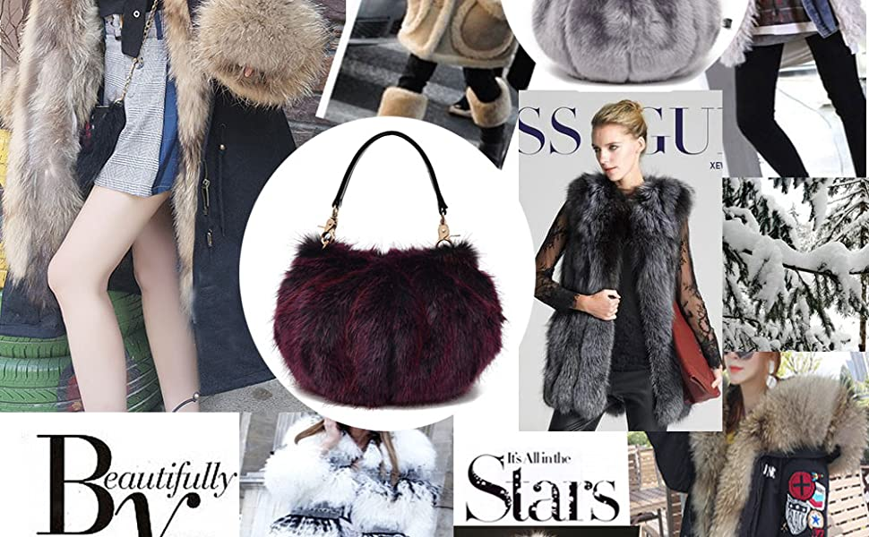 0b7dc0995e36 Donalworld Women Faux Fur Handbag Design Cute Gifts Winter Warm Shoulder Bag