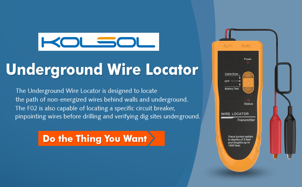 Kolsol Underground Wire Locator Cable Tester F02 With