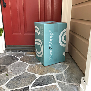 Mattress topper box at door