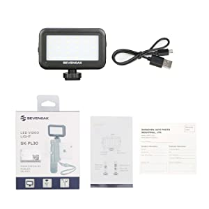 LED Video Light for iPhone Camera, Sevenoak SK-PL30 30 LED Dimmable Light