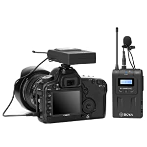 BOYA BY-WM8 PRO-K1 Wireless Lavalier Microphone for iPhone and Camera