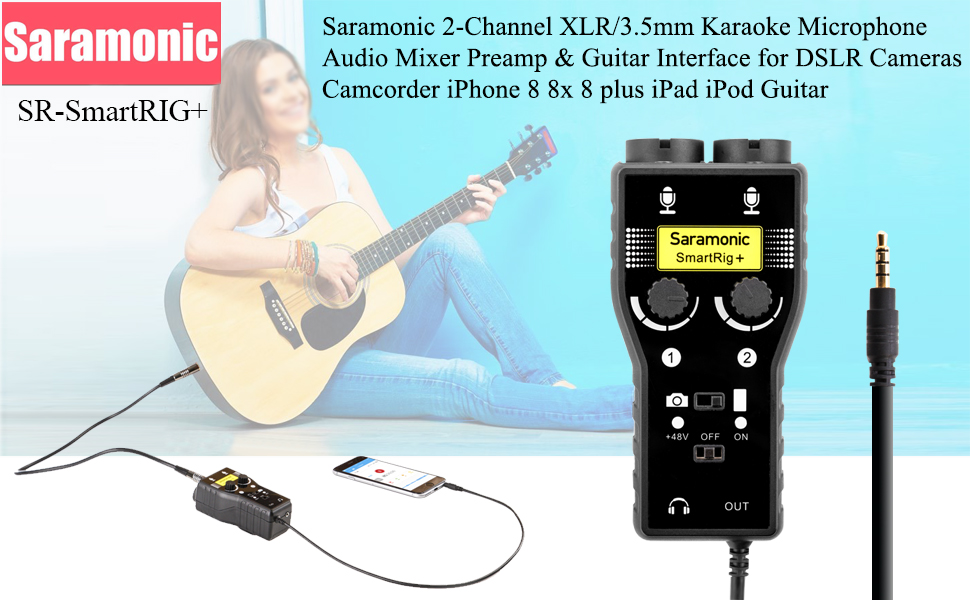 Amazon.com: Saramonic SmartRig+ 2-Channel XLR/3.5mm Karaoke ...