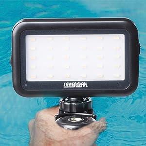 LED Video Light for iPhone Camera, Sevenoak SK-PL30 30 LED Dimmable Light Brightness