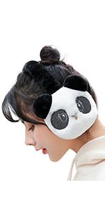 Cuekondy Women Men Winter Ear Muffs Unisex Knit Cashmere Windproof Outdoor Fur Ear Warmer Adjustable Wrap,Pure Color