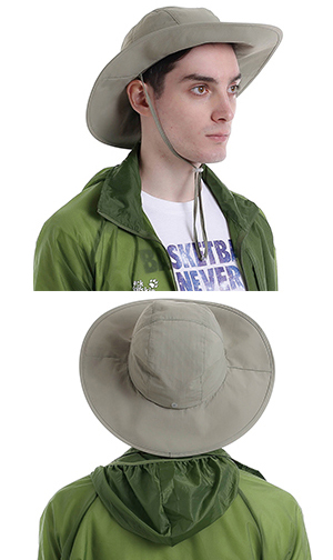 642a5e418d95d Surblue Men s Crushable Ventilated Sun Hat-Army Green-Sun Protective UPF 50+