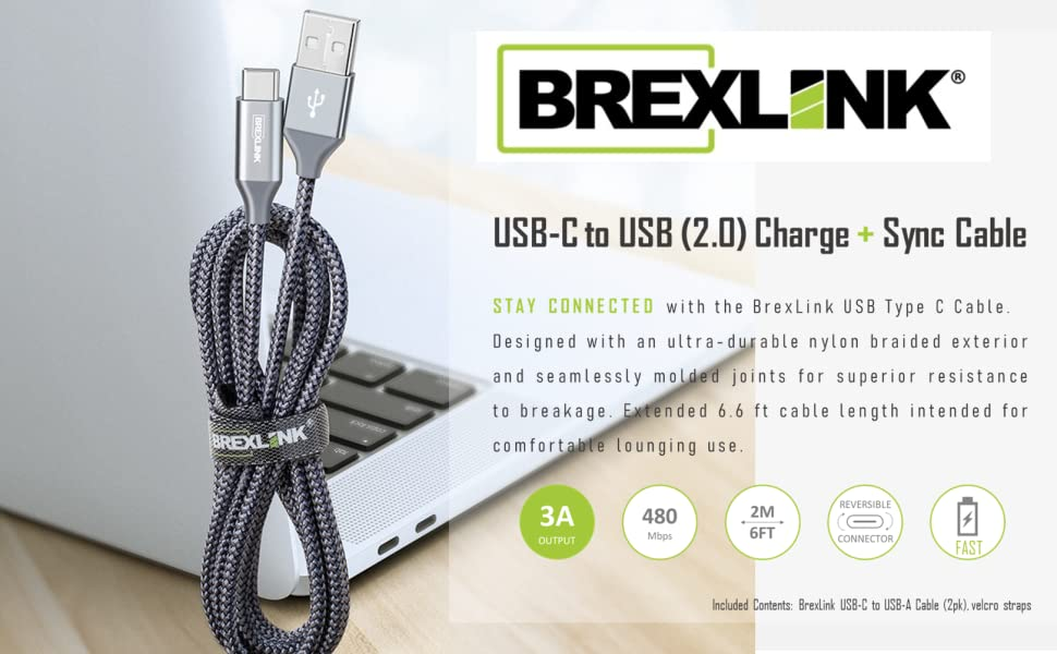 brexlink usb type c charger cord for samsung galaxy s10 s9 s8 plus note 9 note 8 charging cable