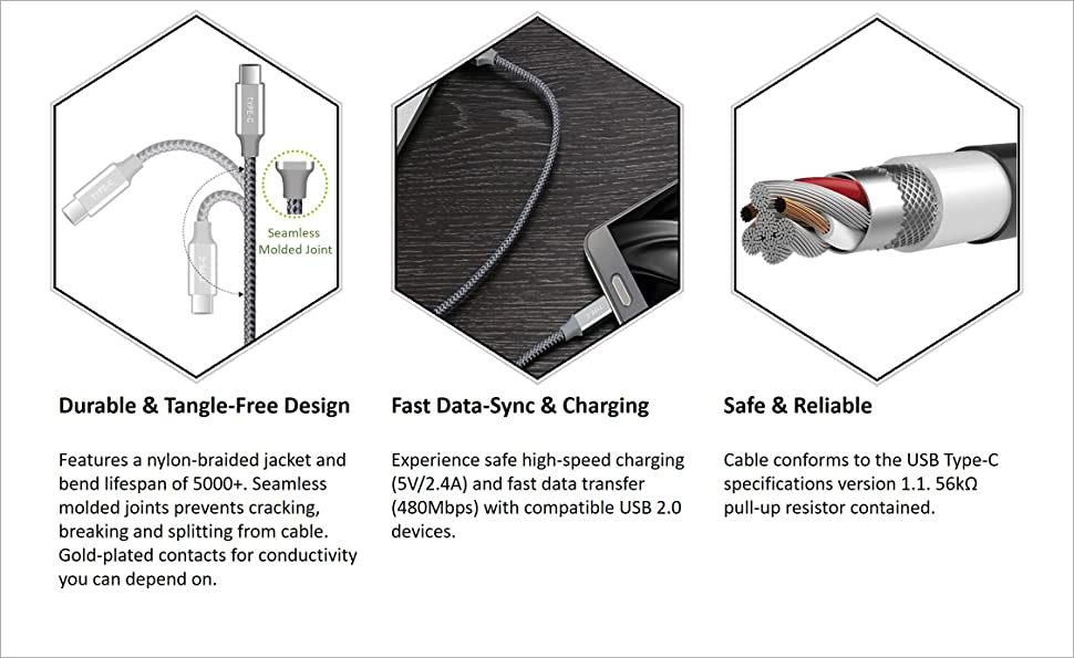 BrexLink USB Certified Type C Cable