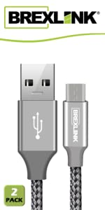 brexlink fast charging braided usb cable type c usb c