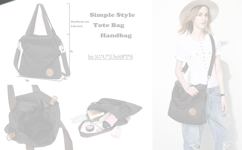 954f9a09cffb Amazon.com  Retro Hobo Style Women s Canvas Casual Handbag Shoulder ...