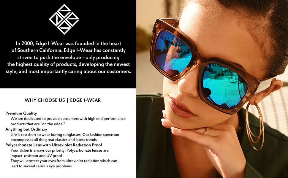 Edge I-Wear Retro Chic Octagon Shaped Metal Sunglasses w/Flat Lens