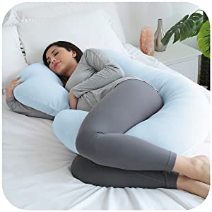 pregnancy pillow body maternity sleep baby comfort trimester align belly feed nursing ben spine