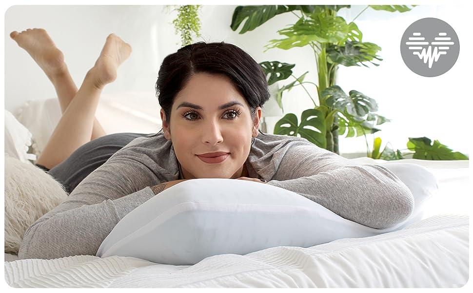 pharmedoc luna lunablue pillow memory foam bed ventilated cooling gel holes