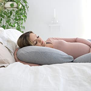 Amazon Com Pharmedoc Pregnancy Pillow With Jersey Cover