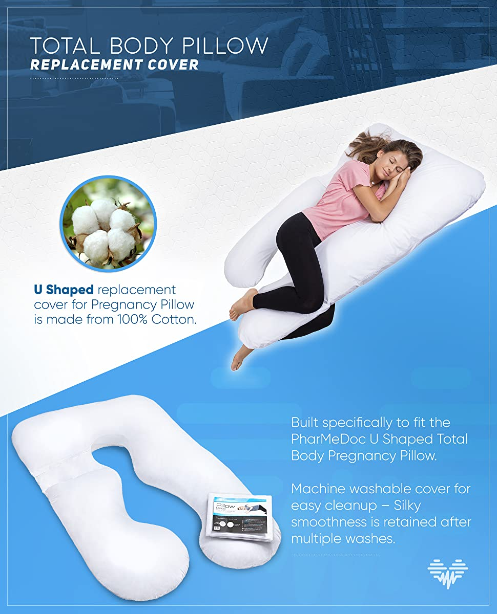 amazon com pharmedoc total body pillow cover replacement u