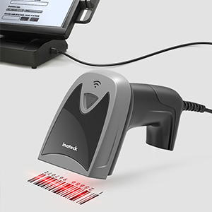 BS02003 1D USB Wired Screen Barcode Scanner