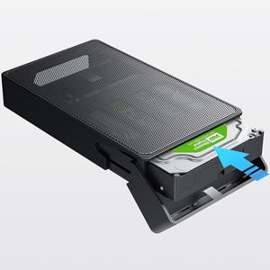 Inateck 3.5 Inch HDD Enclosure, USB 3.0 Mesh Case, Support UASP, SA01003