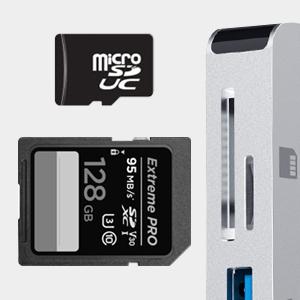 usb c hub with micro sd card reader