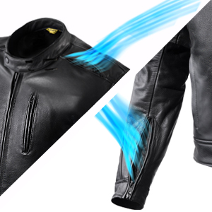 perforated motorcycle jacket, leather motorcycle jacket for men, summer motorcycle jacket