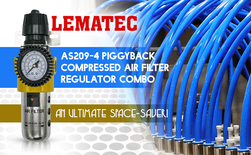 Ultimate Piggyback Compressed Air Filter Regulator Combo