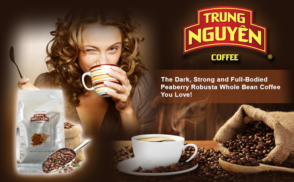 The Dark, Strong and Full-Bodied Peaberry Robusta Whole Bean Coffee You Love!