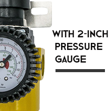 With 2-inch Pressure Gauge
