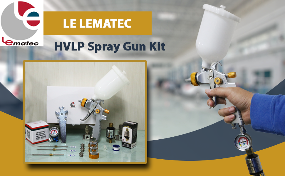 Enjoy Spray Painting With Le Lematec HVLP Spray Gun Kit