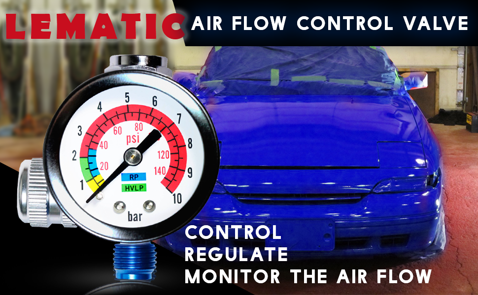 Air Flow Control Valve and Regulator in One Lematec