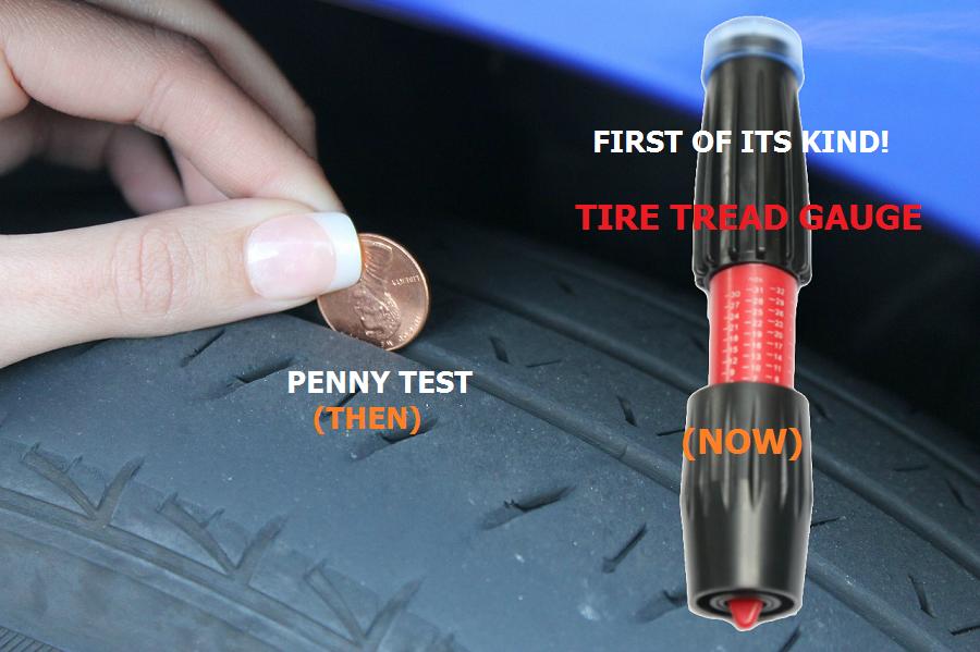 Tire Penny Test >> Amazon.com: Tread Depth Gauge for Tires. Thread Wear Gauge ...