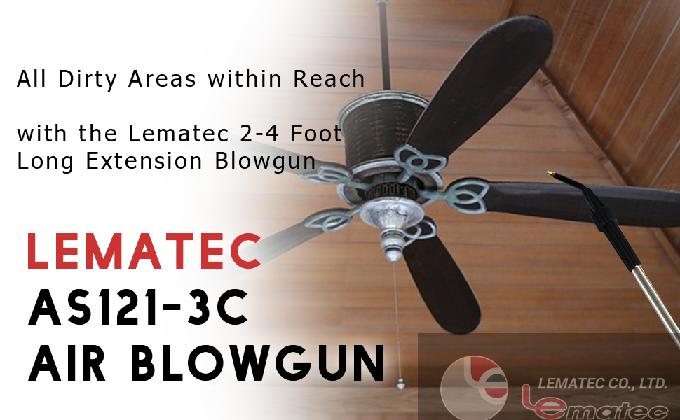 All Dirty Areas within Reach with the Lematec 2-4 Foot Long Extension Blowgun
