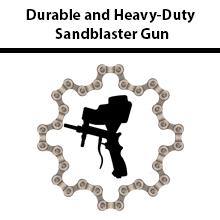 Durable and Heavy-Duty Sandblaster Gun