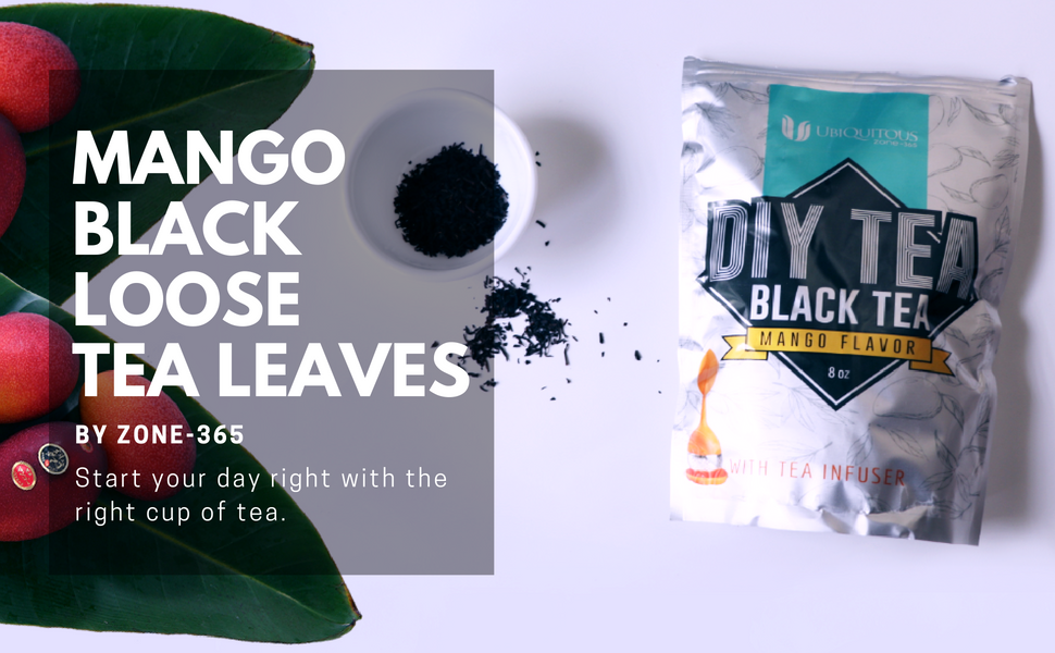 Mango black tea leaves