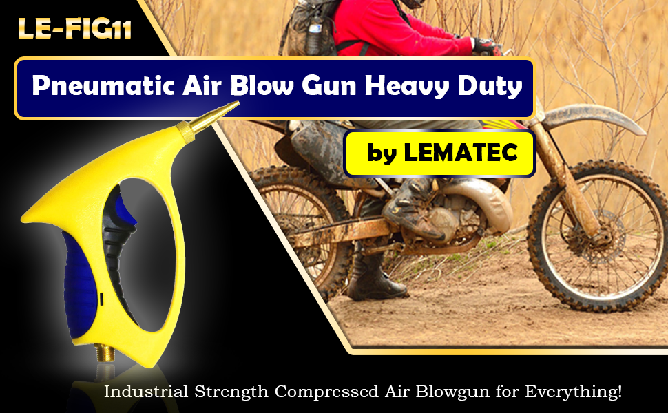 Industrial Strength Compressed Air Blowgun for Everything!