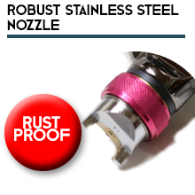 With Robust Stainless Steel Nozzle