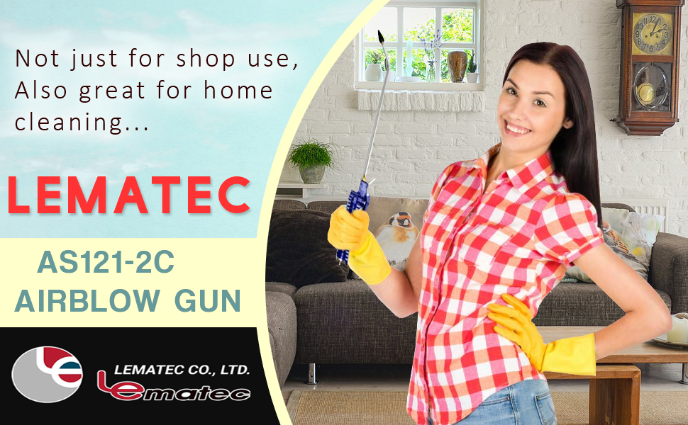 Cleaning Can Be Fun with the Lematec Blowgun: Wifes Love it!