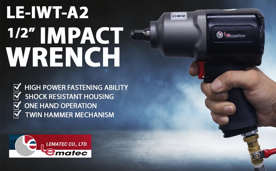 Lematec LE-IWT-A2  ½ Aluminum Impact Wrench