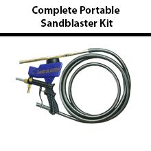 Complete Portable Sandblaster Kit