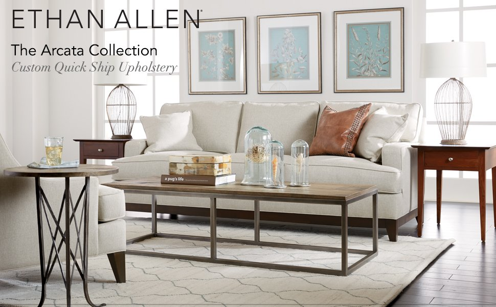 Amazon.com: Ethan Allen sofá Arcata, Tela: Kitchen ...