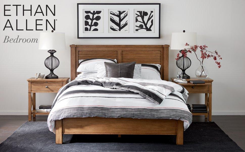 Amazon Com Ethan Allen Cayman Sleigh Bed King Shark Fin Furniture Decor