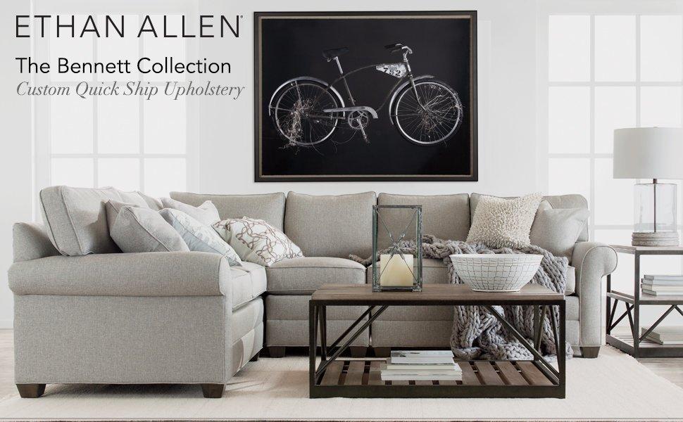 Stupendous Ethan Allen Bennett Roll Arm Sofa 86 Sofa Palmer Oyster Chenille Fabric Creativecarmelina Interior Chair Design Creativecarmelinacom