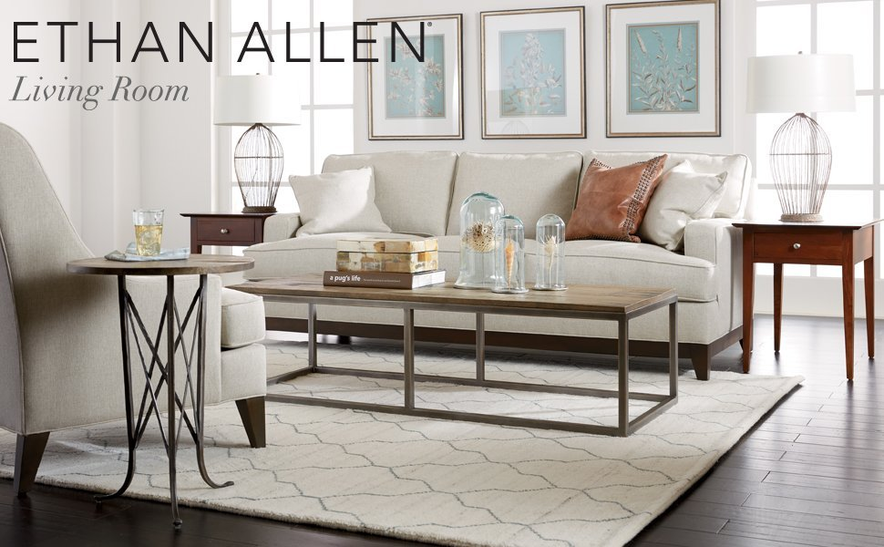 Amazon Com Ethan Allen Beacon Square Coffee Table Goldtone