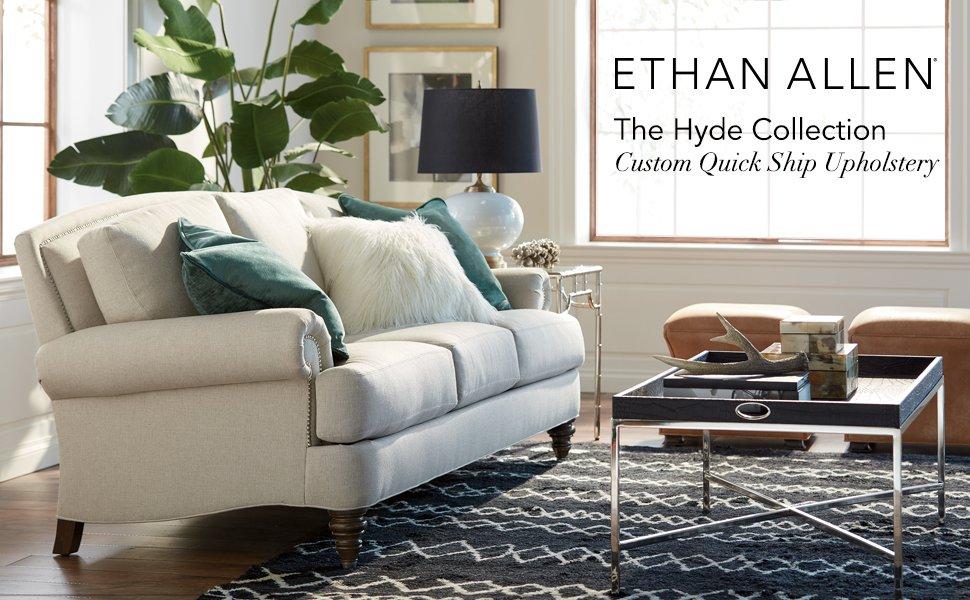 Amazon.com: Ethan Allen Hyde silla de piel, rápido de barco ...