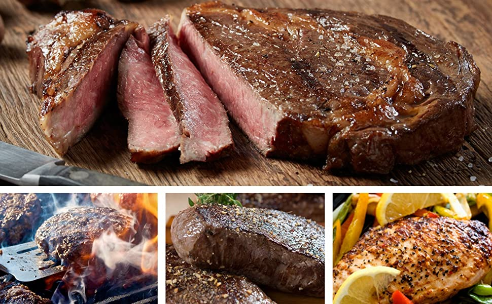 barbeque grill cut steaks flash frozen gift box gourmet food set grilled meat steak holiday gift