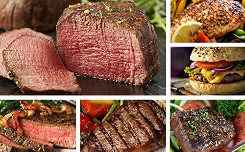 barbecue bbq party cuts angus patty beef filets usda prime frozen gift grill sampler