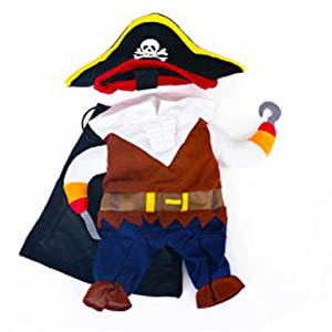 Amazon.com : TOPSUNG Cool Caribbean Pirate Pet Halloween Costume ...